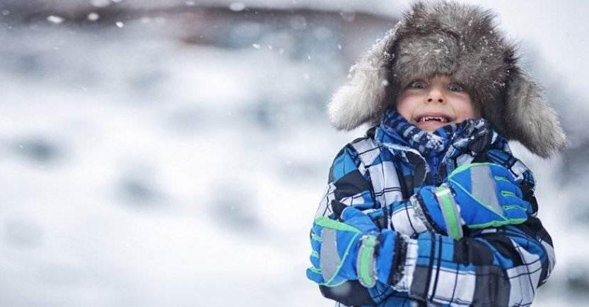 kůže dětí v zimě